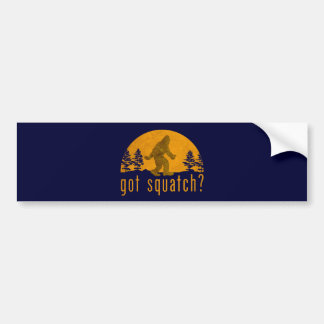 ¿Squatch conseguido? Vintage Etiqueta De Parachoque