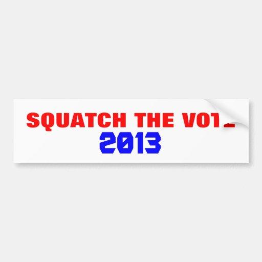 ¿Squatch el voto 20?? Pegatina De Parachoque