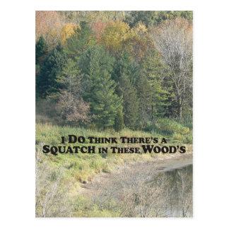 Squatch en estas maderas - productos de Mult Tarjetas Postales
