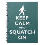 Squatch encendido cuadernos