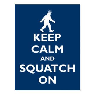 Squatch encendido postal