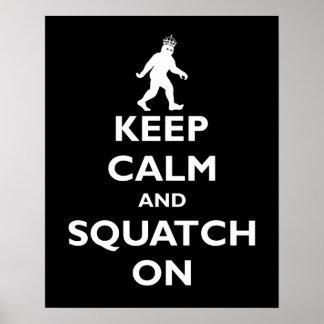 Squatch encendido póster