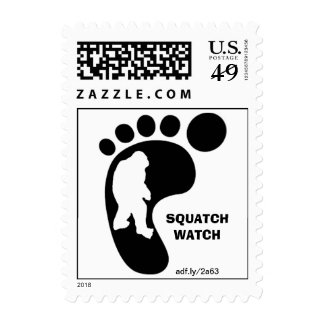 Squatch Footprint U.S. Postage Stamps (Small)