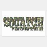 Squatch Hunter - Camo Pattern Rectangular Sticker