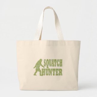 Squatch hunter on camouflage large tote bag