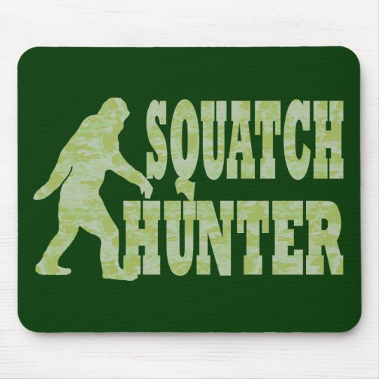 Squatch hunter on camouflage mouse pad