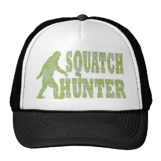 Squatch hunter on camouflage trucker hat