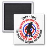 squatch hunting permit fridge magnets