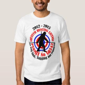squatch hunting permit shirts