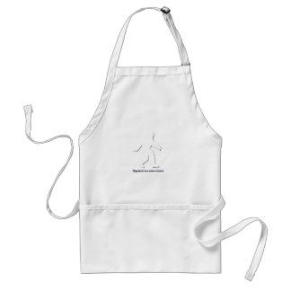 Squatch in a snow storm adult apron