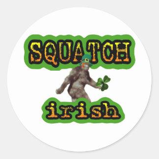 squatch irish classic round sticker