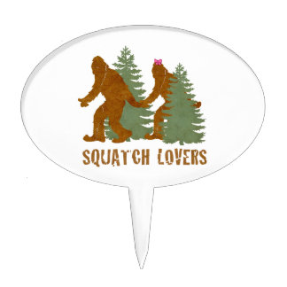 Squatch Lovers Cake Topper