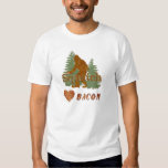 Squatch Loves Bacon Tee Shirt
