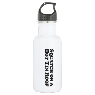 Squatch on a Hot Tin Roof (text) - Mult-Products Water Bottle