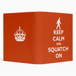 Avery Signature 1' Binder with Keep Calm and Squatch On design