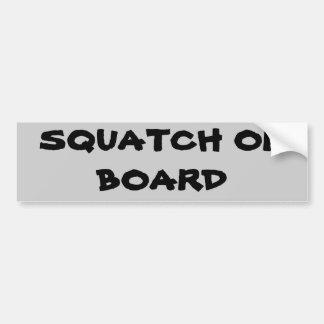 Squatch On Board Car Bumper Sticker