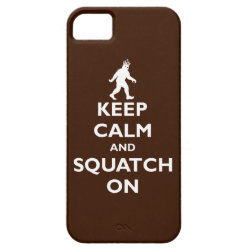Case-Mate Vibe iPhone 5 Case with Keep Calm and Squatch On design