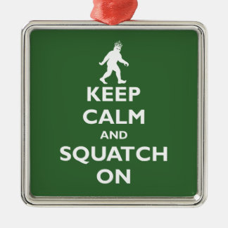 Squatch On Metal Ornament