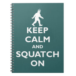 Photo Notebook (6.5' x 8.75', 80 Pages B&W) with Keep Calm and Squatch On design