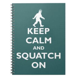 Squatch On Spiral Notebook
