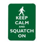 Squatch On Vinyl Magnets