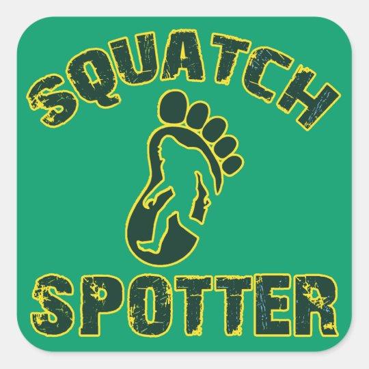 Squatch Spotter Square Sticker