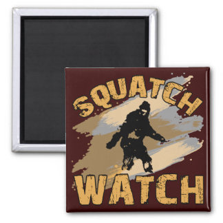 Squatch Watch 2 Inch Square Magnet