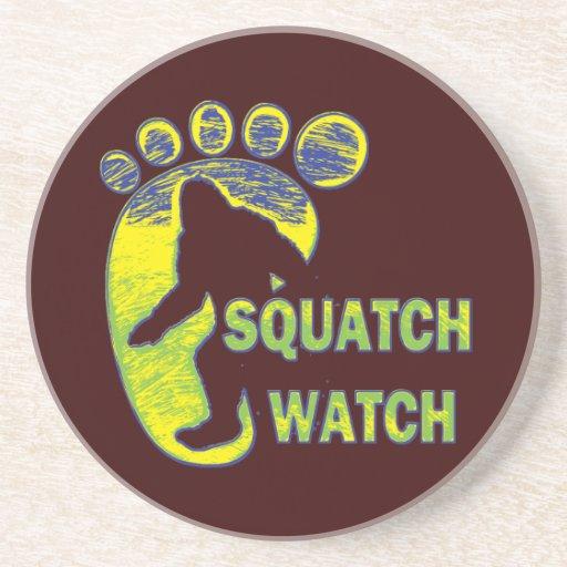 Squatch Watch Beverage Coasters