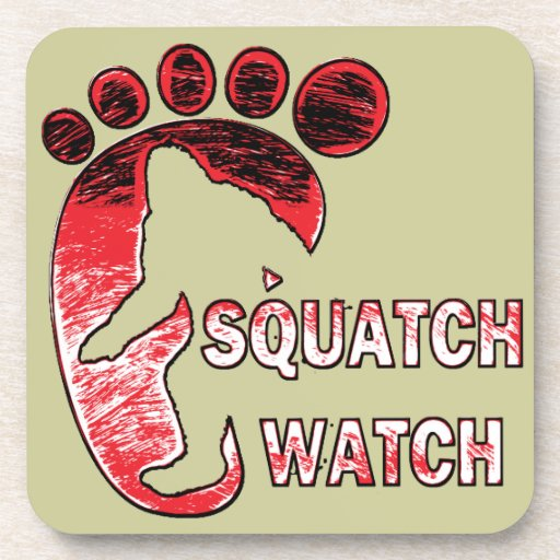 Squatch Watch Drink Coasters
