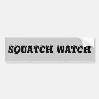 Squatch Watch Eyeballs Bumper Sticker