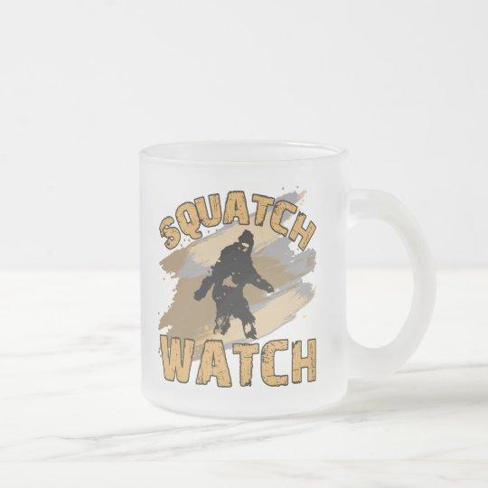 Squatch Watch Frosted Glass Coffee Mug