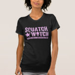 Squatch Watch - Pink Distressed Grunge Letters Tees