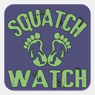 Squatch Watch Square Sticker