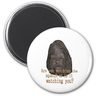 squatch watching you 2 inch round magnet