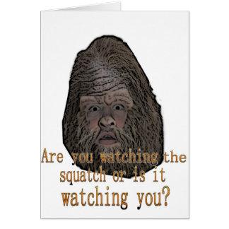 squatch watching you card