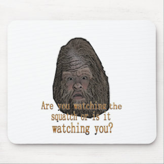 squatch watching you mouse pad
