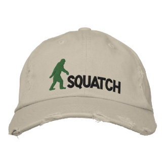 squatch with large bigfoot logo embroidered baseball cap