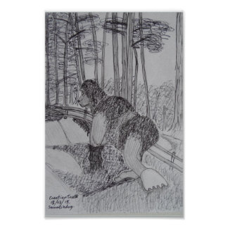 Squatchdog sketch poster