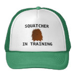 Squatcher in training baby bigfoot mesh hats