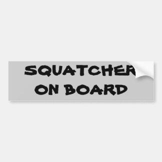 Squatcher on board car bumper sticker