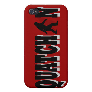 Squatchin, black text case for iPhone 4