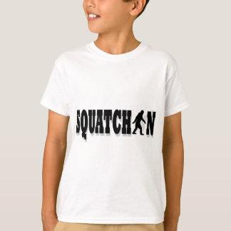 Squatchin, black text T-Shirt