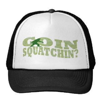¿Squatchin de Goin? texto y camo verde Gorras De Camionero