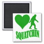 Squatchin del corazón I Iman De Frigorífico