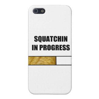Squatchin en curso iPhone 5 protector
