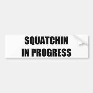 Squatchin en curso pegatina para auto