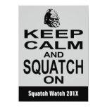 "Squatchin Funny  Bigfoot Hunting Invitation 4.5"" X 6.25"" Invitation Card"