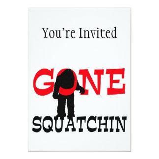 Squatchin ido Bigfoot atrapado Invitación 12,7 X 17,8 Cm