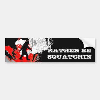 Squatchin ido, Bigfoot negro Pegatina Para Auto