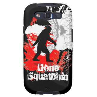 Squatchin ido Bigfoot negro Galaxy SIII Funda